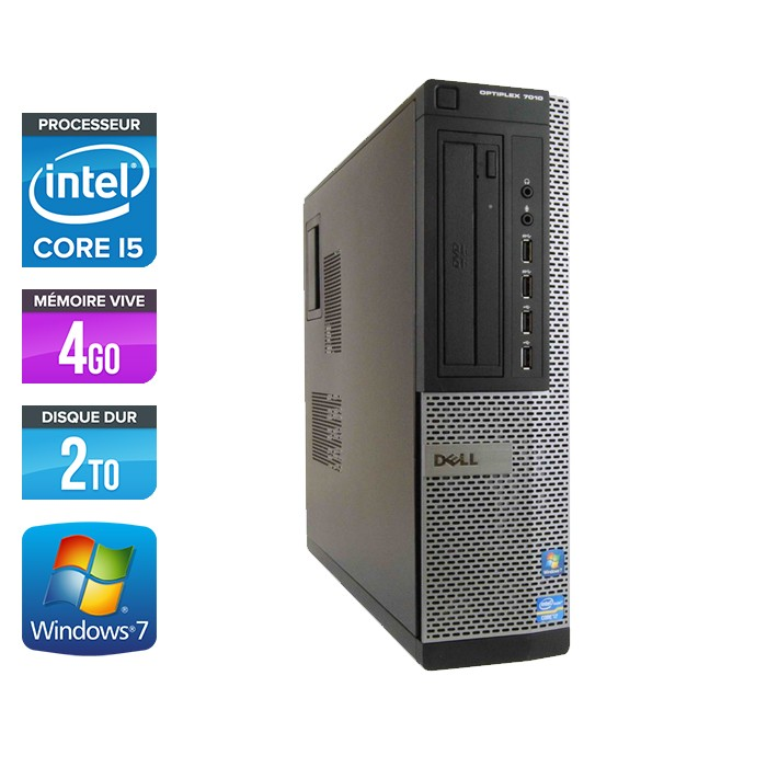 Dell Optiplex 7010 Desktop - Core i5 - 4 Go - HDD 2 To - Windows 7