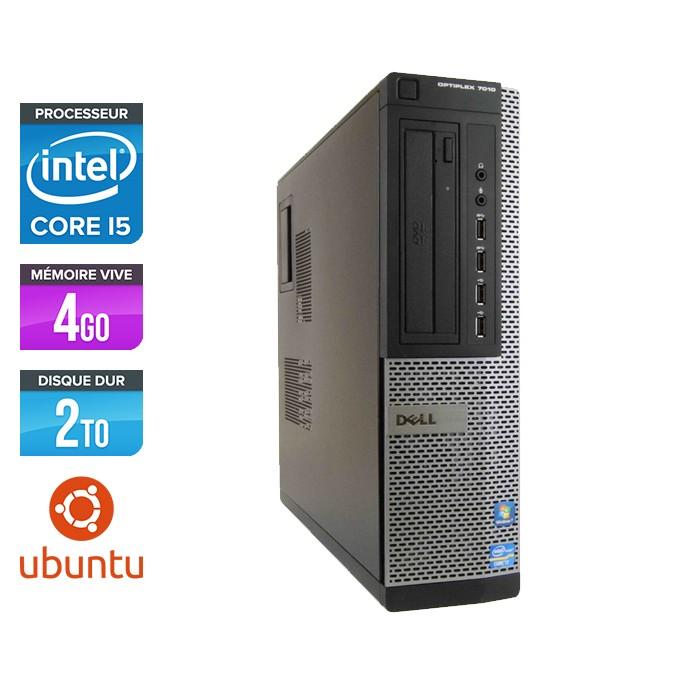 Dell Optiplex 7010 Desktop - Core i5 - 4 Go - HDD 2 To - Ubuntu - Linux