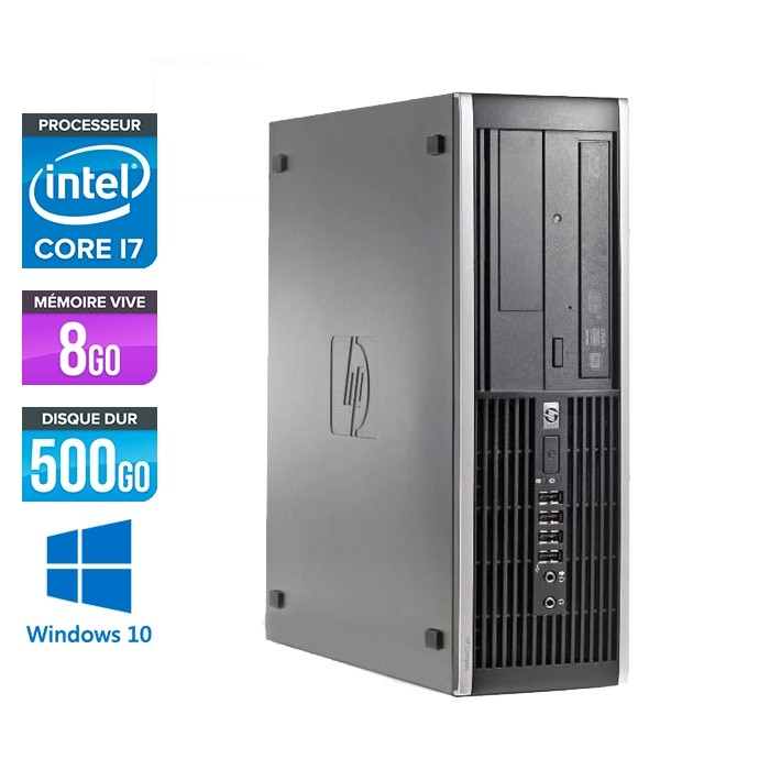 HP Elite 8200 SFF - i7 - 8Go - 500 Go HDD - W10