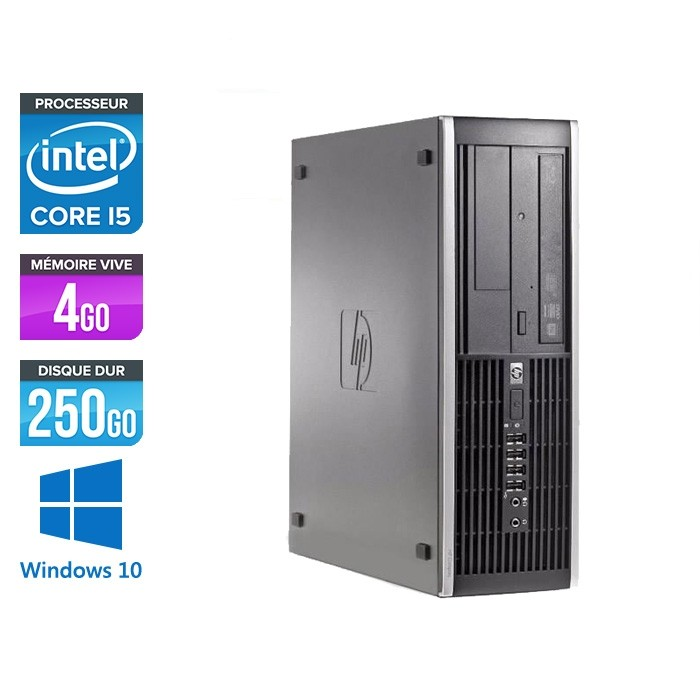 HP 8300 SFF - Intel i5-3470 - 4 Go- 250 Go HDD - Windows 10