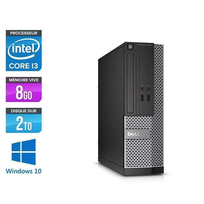 PC de bureau reconditionné Dell Optiplex 3020 SFF - Core i3 - 8Go - 2To HDD - W10