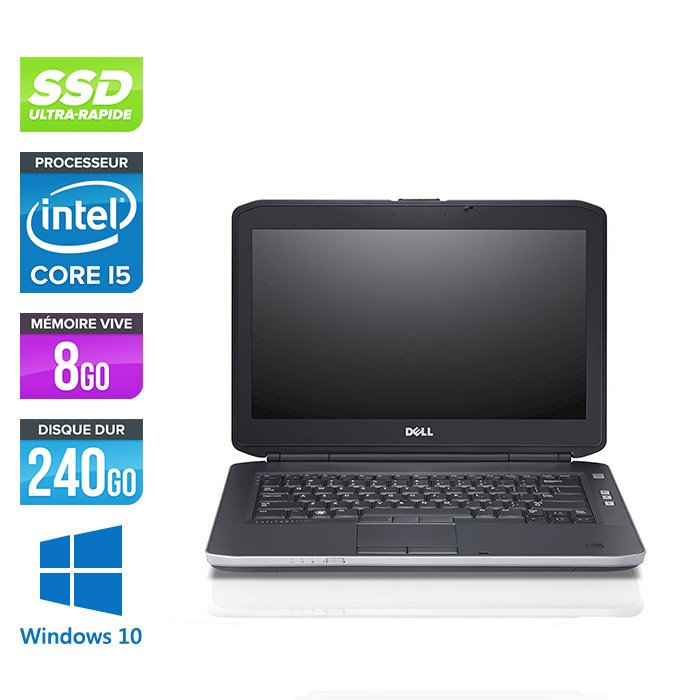 Dell Latitude E5430 - i5 - 8Go - 240 Go SSD - windows 10