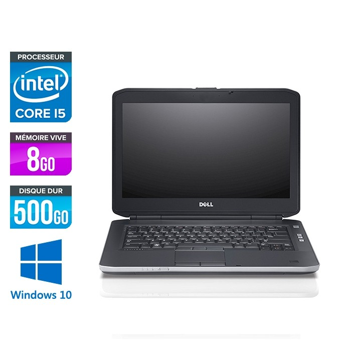 Pc portable reconditionné - Dell Latitude E5430 - i5 - 8Go - 500Go HDD - Windows 10