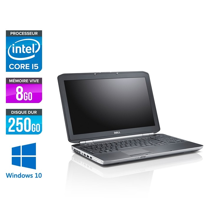 Dell Latitude E5520 - i5 - 8 Go - 250 Go - Windows 10