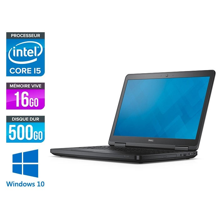 Dell latitude E5540 - i5 - 16Go - 500 Go HDD - Windows 10