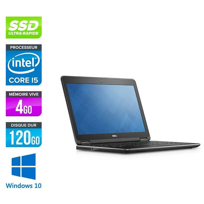 Dell Latitude E7250 - i5 - 4Go - 120Go SSD - Windows 10
