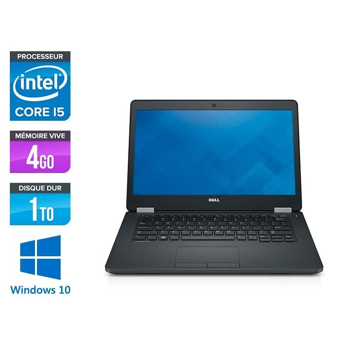 Pc portable reconditionné - Dell Latitude E5470 - i5 6200U - 4Go DDR4 - 1To HDD - Windows 10-2