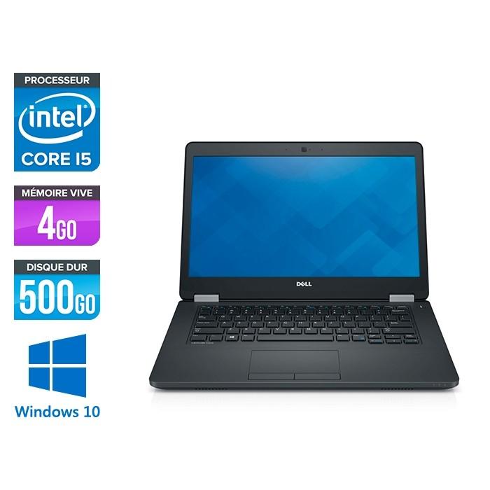 Pc portable reconditionné - Dell Latitude E5470 - i5 6200U - 4Go DDR4 - 500 Go HDD - Windows 10-2