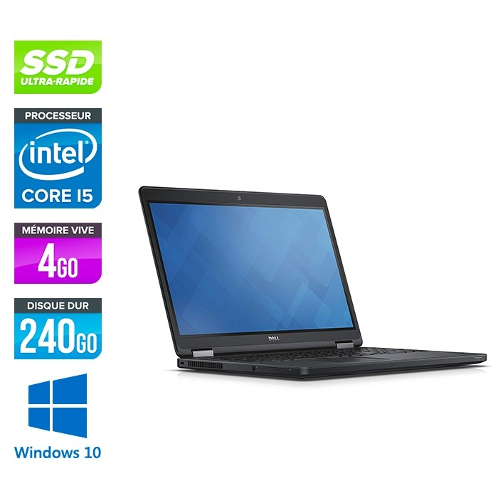 Dell Latitude E5550 - i5 - 8Go - 240 Go SSD - Windows 10
