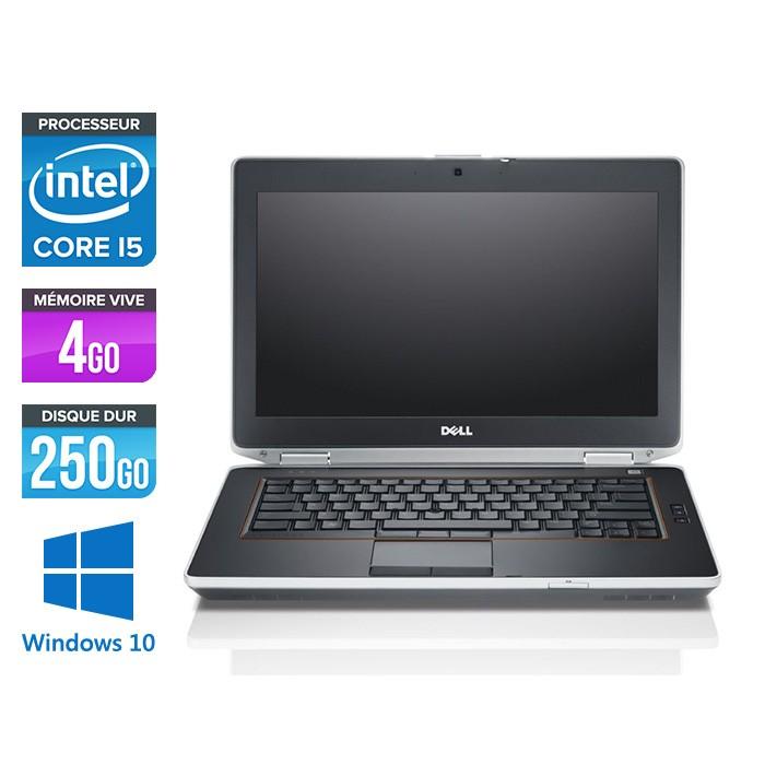 Dell Latitude E6420 - i5 - 4Go - 250Go  HDD - Webcam - Windows 10