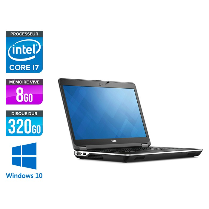 Dell Latitude E6440 - i7 - 8Go - 320GO HDD - Windows 10