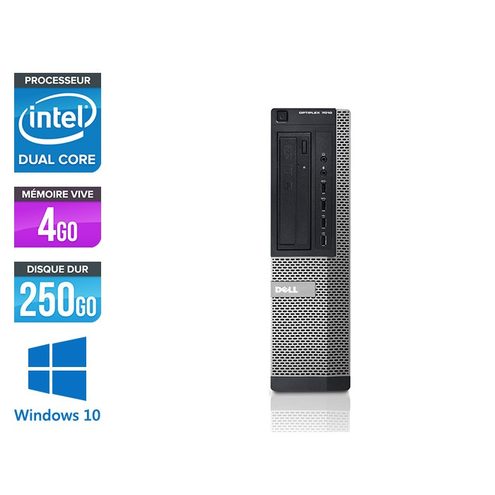 Dell 7010 Desktop - intel G870 - 4 Go -250 Go - Windows 10