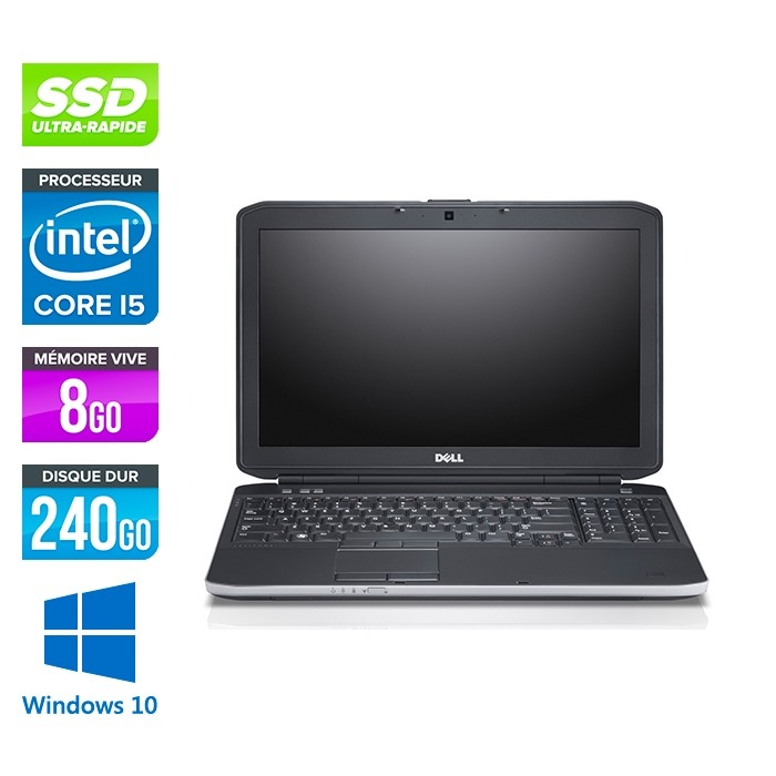 Dell E5530 - i5 3320M -  8Go - 240Go SSD - 15.6'' - Windows 10
