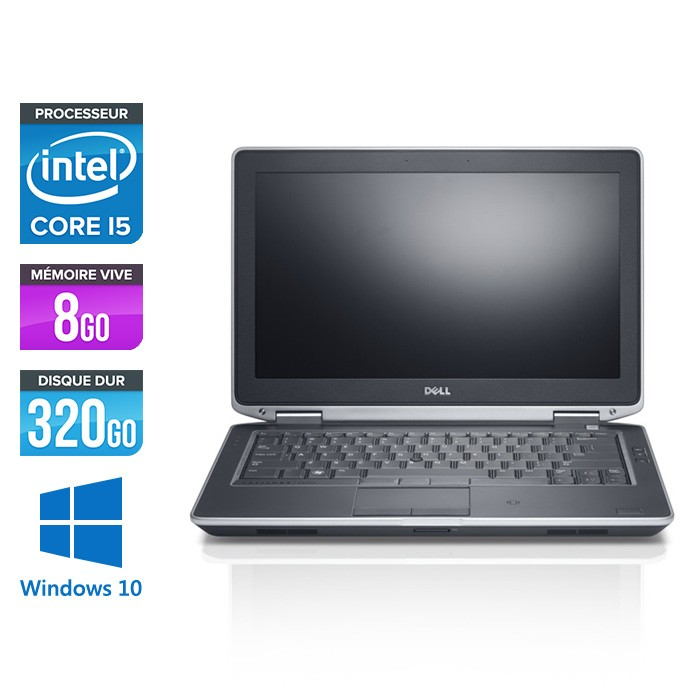 Dell Latitude E6330 - Core i5-3320M - 8Go - 320 Go HDD- windows 10