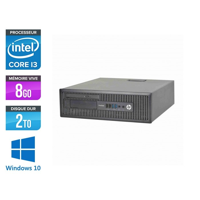 HP 600 G1 SFF - i3 - 8Go - 2To HDD -W10