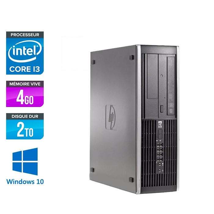 HP 6200 PRO SFF - i3 - 4Go - 2To HDD - Windows 10