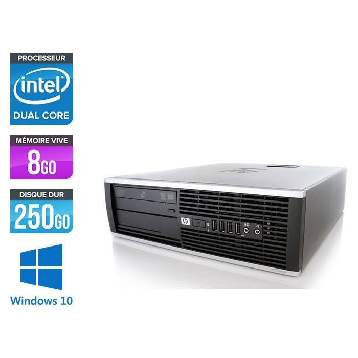 HP Elite 8200 SFF - Intel G840 - 8Go - 250Go HDD - Windows 10