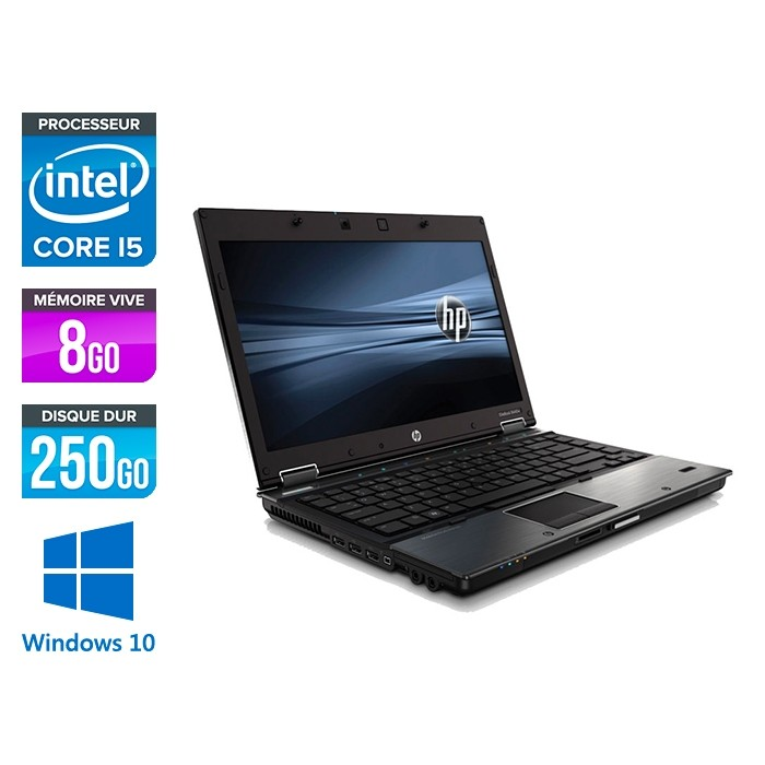 HP 8440P - i5 - 8 Go- 250 Go HDD - 14'' - Windows 10