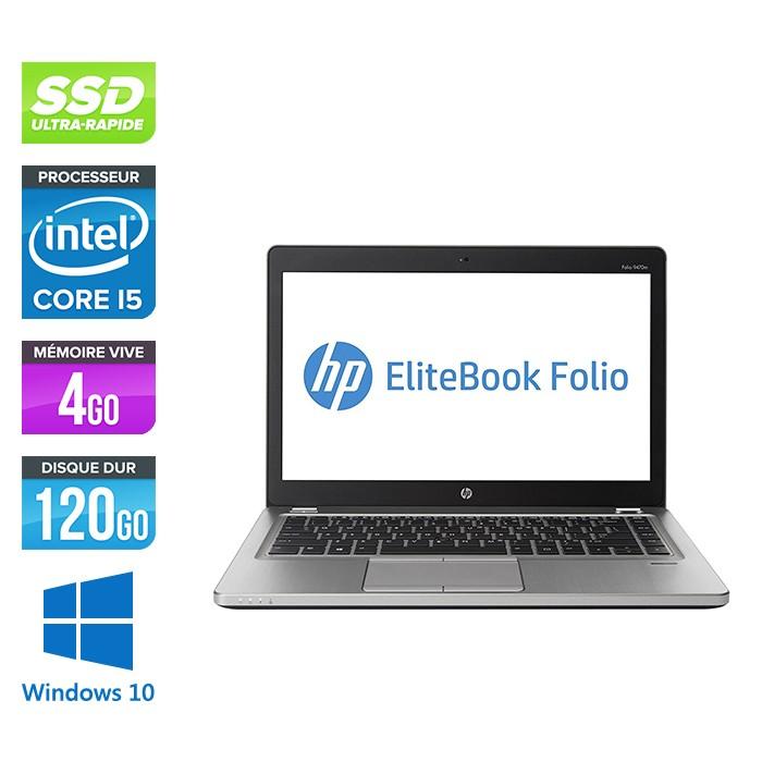 Pc portable - HP Folio 9470M reconditionné - i5 - 4Go -120Go SSD - 14'' - Win 10
