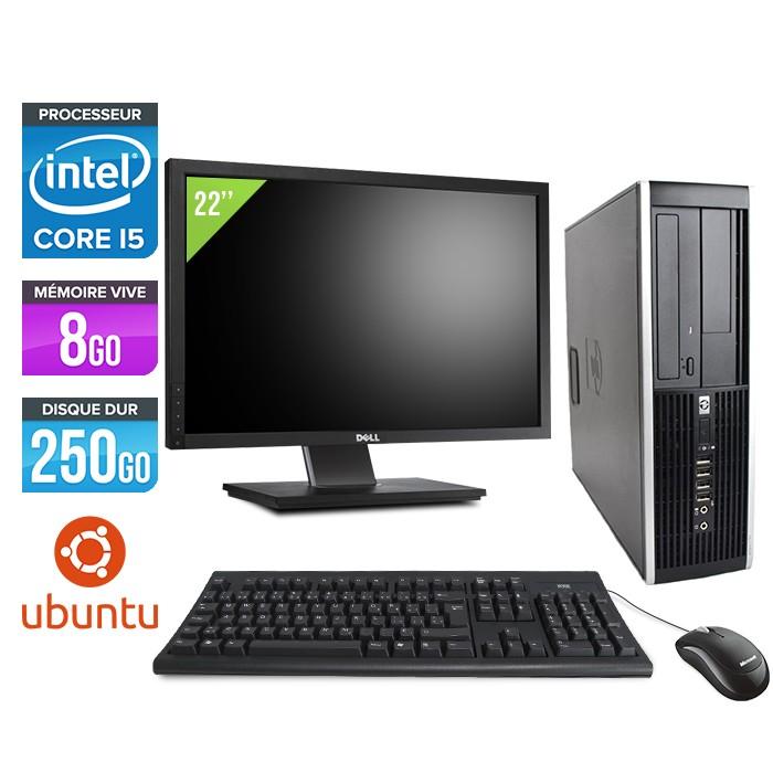 "HP Elite 8200 SFF + Ecran 22"" - Core i5 - 8Go - 250Go - linux"