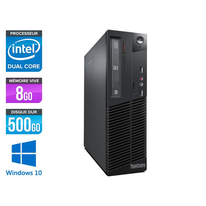 Lenovo ThinkCentre M72E SFF - Pentium i5 - 8Go - 500Go - Windows 10