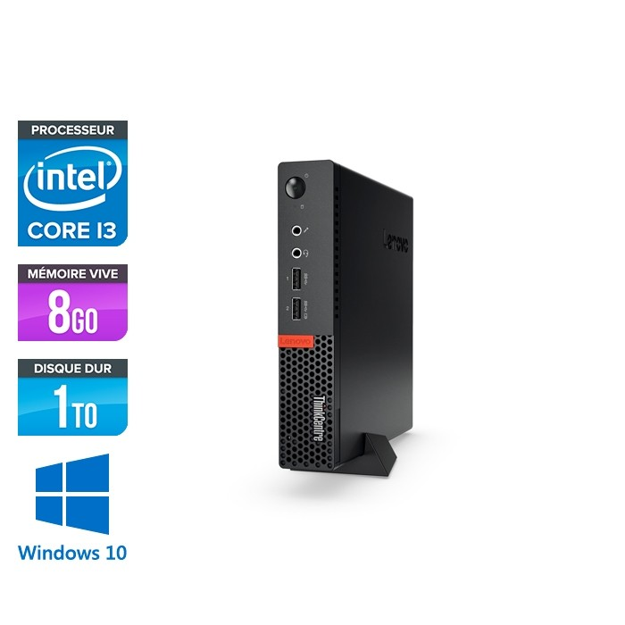 Lenovo M910Q USFF - i3 - 8 Go - 1To HDD - Windows 10