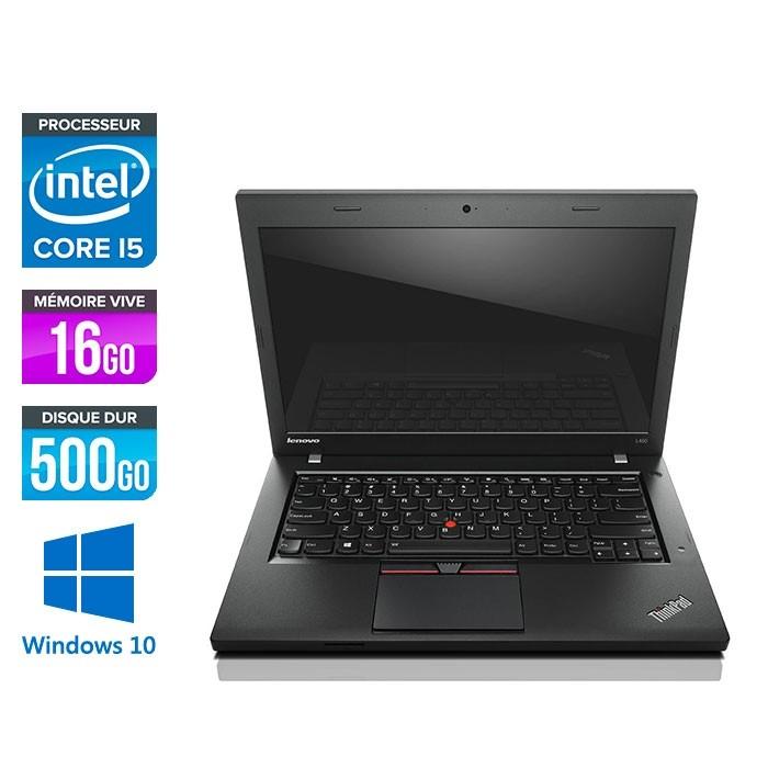 Lenovo ThinkPad L450 - i5 - 16Go - 500Go HDD - webcam - Windows 10