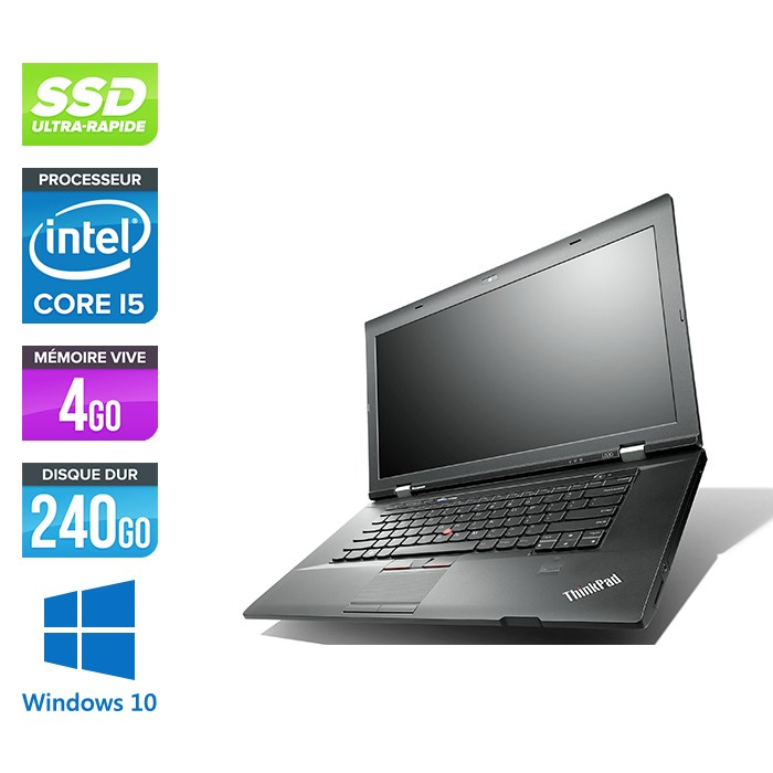Lenovo ThinkPad L530 - Core i5 - 4 Go - 240Go HDD - Windows 10