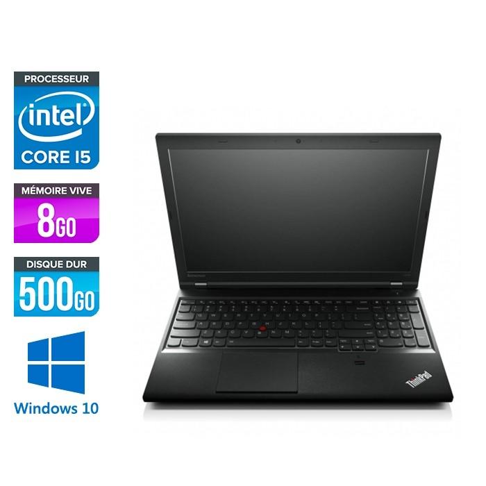Lenovo ThinkPad L540 - i5 - 8Go - 500Go HDD - sans webcam - Windows 10