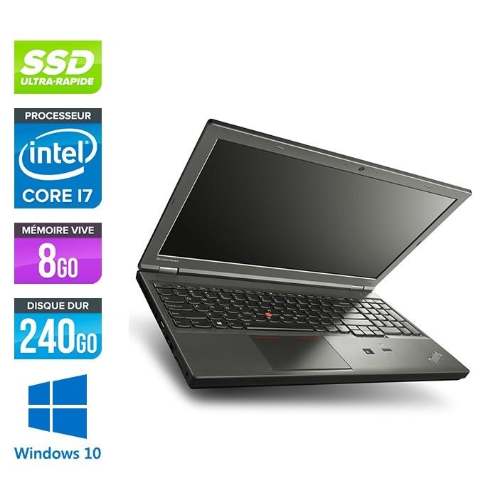 Lenovo ThinkPad W540 -  i7 - 8Go - 240Go SSD - Nvidia K1100M - Windows 10