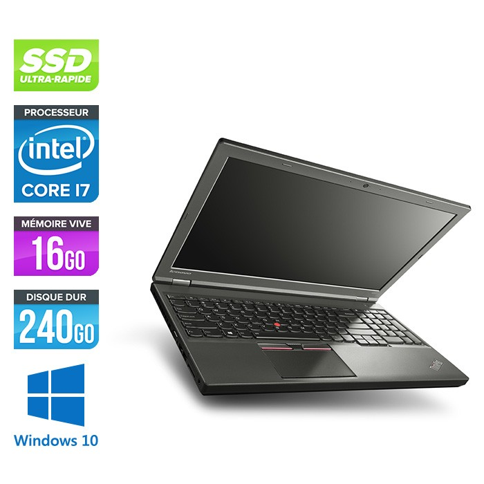 Lenovo ThinkPad W541 -  i7 4710MQ - 16Go - 240Go SSD - Nvidia K1100M - Windows 10
