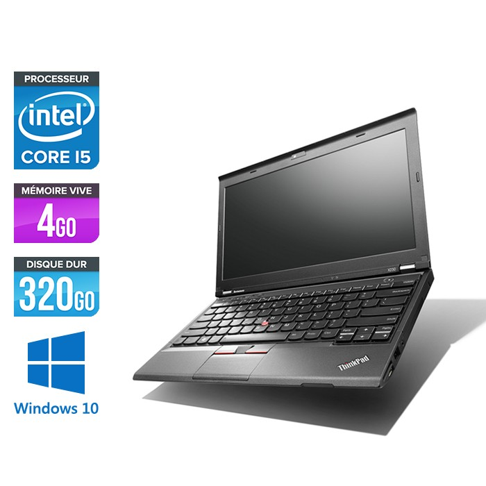 Lenovo ThinkPad X230 - Core i5-3320M - 4Go - 320 Go HDD - Windows 10