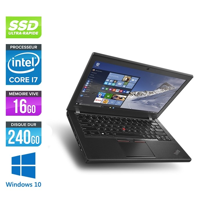Lenovo ThinkPad X270 - i5 6300U - 16Go - 240 Go SSD - Windows 10 Famille