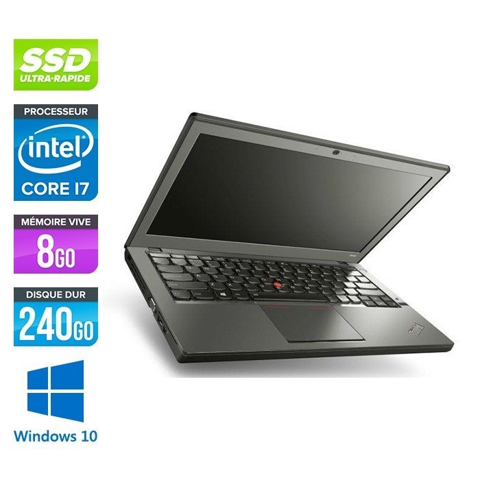 Lenovo ThinkPad X240 - i7 4600U - 8 Go - 240 Go SSD - Windows 10