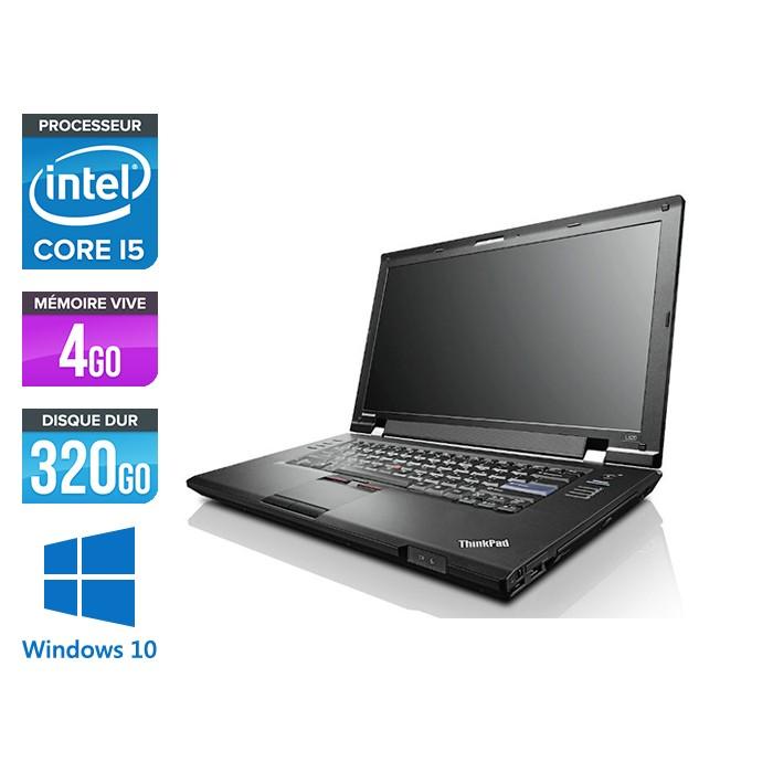 Pc portable reconditionné - Lenovo ThinkPad L520 - Core i5 - 4 Go - 320 Go HDD - Windows 10