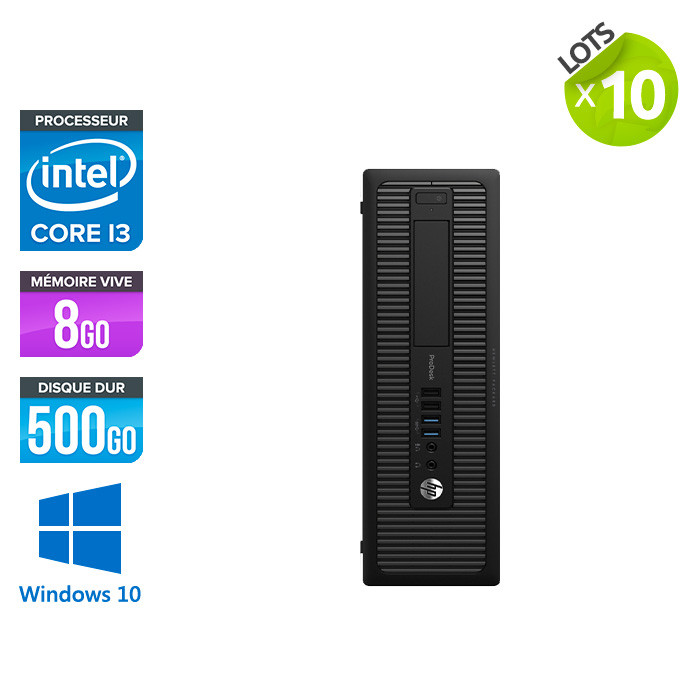 Lot de 10 HP 600 G1 SFF - i3 - 8Go - 500 HDD - W10