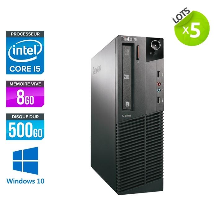 Lot de 5 Lenovo M93P SFF - i5 - 8Go - 500 Go HDD - Windows 10