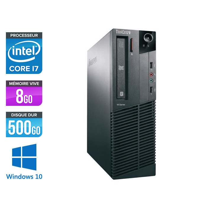 Lenovo ThinkCentre M82 SFF - i7 - 8Go - 500Go - Windows 10