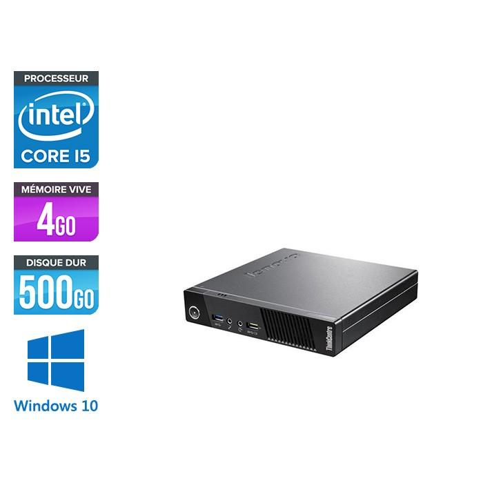 Lenovo M93P Tiny - i5 - 4 Go - 500 Go HDD - Windows 10