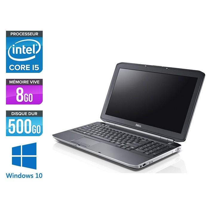 Pc portable reconditionné - Dell Latitude E5530 - i5 3320M -  8Go - 500 Go HDD - 15.6'' HD - Windows 10