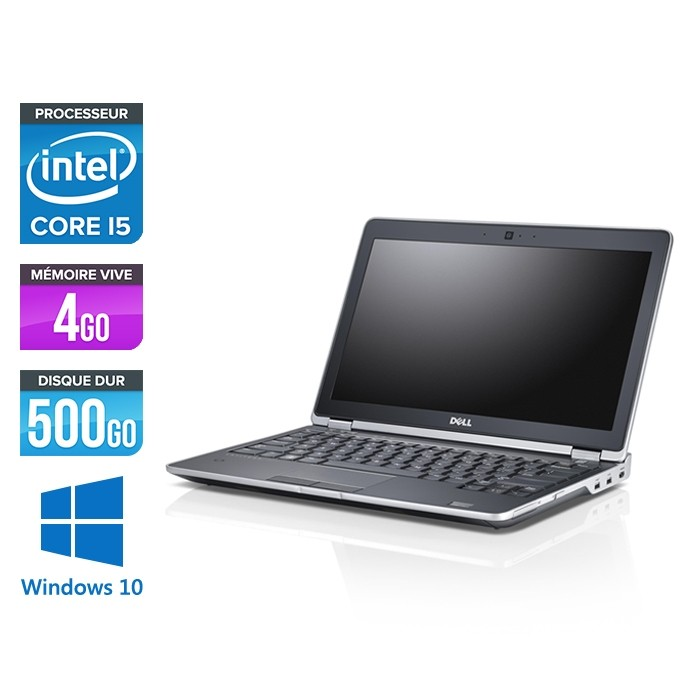 Ordinateur portable reconditionné - Dell Latitude E6230 - Core i5 - 4 Go - 500 Go HDD - Webcam - Windows 10