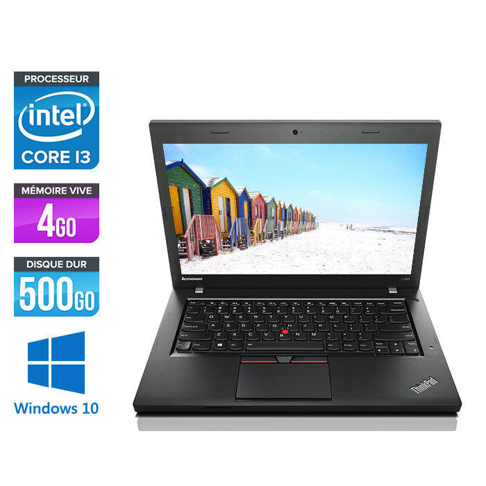 Lenovo ThinkPad L450 - i3 - 4Go - 500Go HDD - webcam - Windows 10