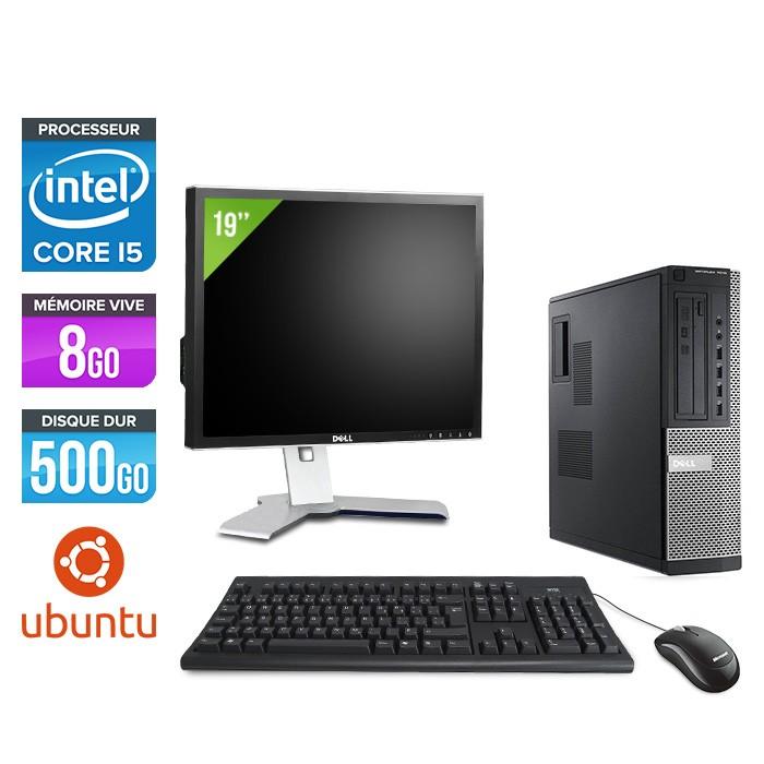 Dell Optiplex 7010 Desktop + Ecran 19'' - i5 - 8Go - 500Go - Linux