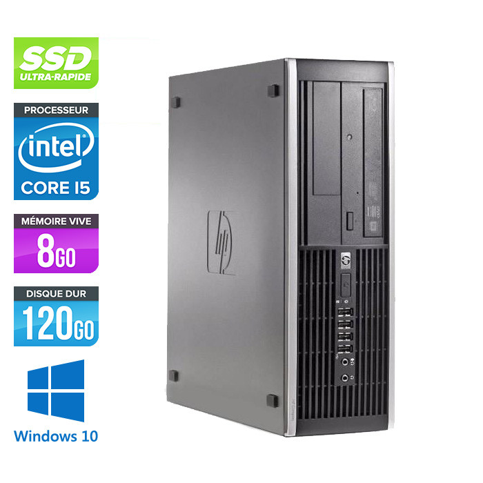 Pc de bureau reconditionné - HP 6200 PRO SFF - Core i5 - 8Go - 120Go SSD - Windows 10