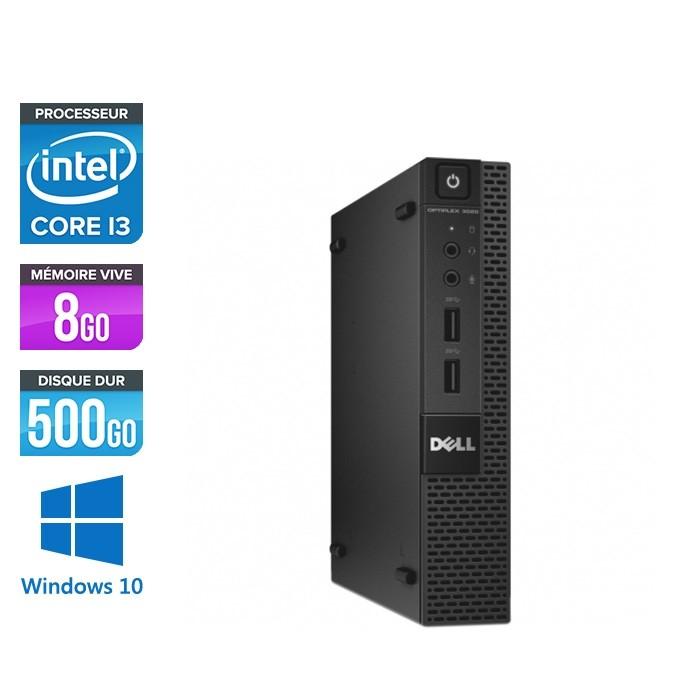 Pc de bureau reconditionné - Dell 3020 Micro - Intel Core i3 - 8Go - 500Go HDD - W10