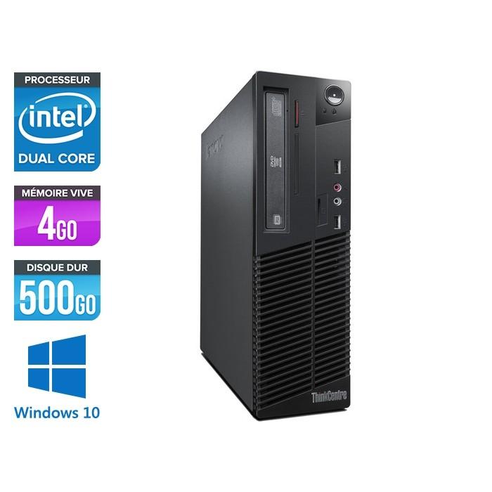 Pc de bureau Lenovo ThinkCentre M72E SFF reconditionné - Core i5 - 4Go - 500Go HDD - Windows 10