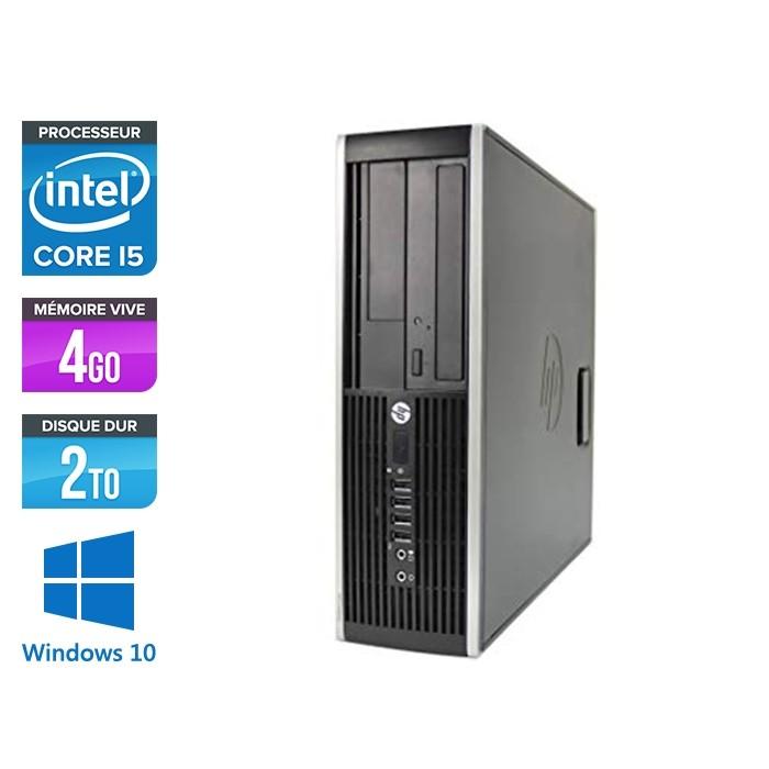 Pc de bureau professionnel reconditionné - HP 8300 SFF - Intel i5-3470 - 4Go - 2To HDD - Windows 10