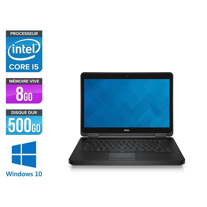 Ordinateur portable reconditionné - Dell Latitude E5440 - i5 - 8Go - 500Go HDD - Windows 10 Famille