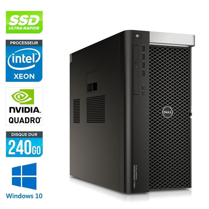 Dell T7610 - 2 x Xeon 2650 V2 - 64Go - 240Go SSD - Quadro K4000 - W10
