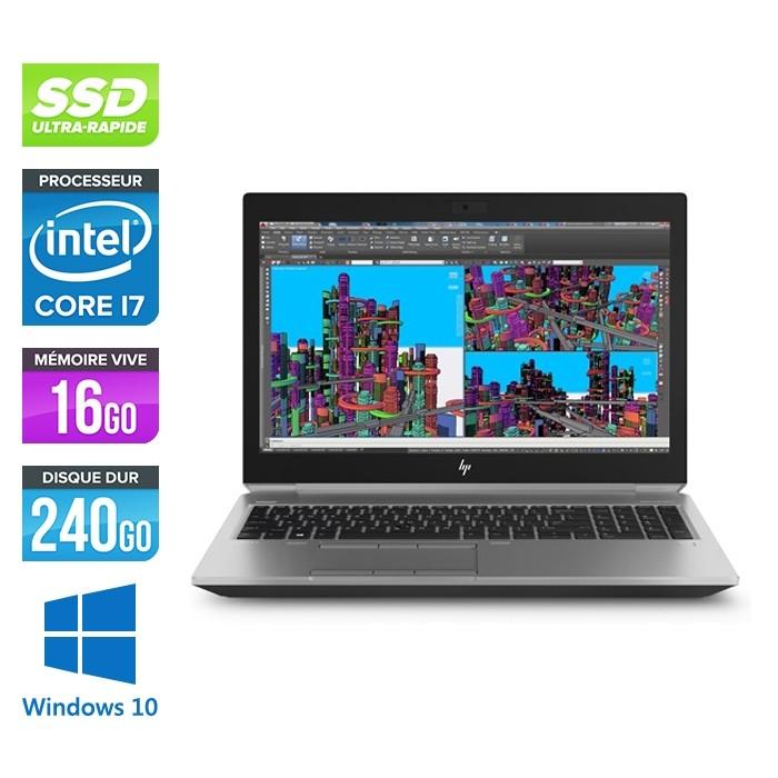 Hp Zbook 15 G5 - i7 - 16Go - 240Go SSD - Windows 10